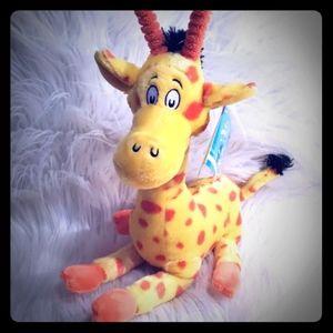 Dr Seuss Plush Giraffe NWT 14 inch